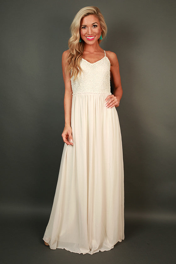 Sweet Escape Crochet Maxi Dress