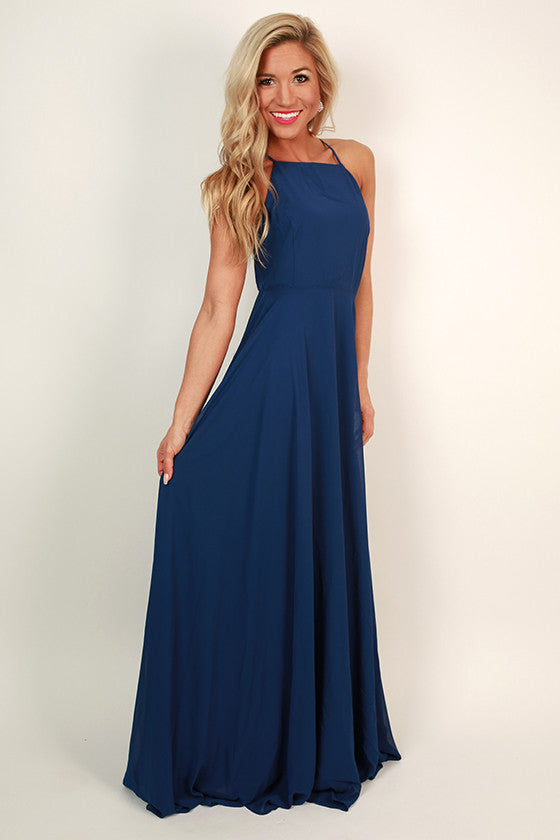 Fallin' in Love Maxi Dress in Sapphire