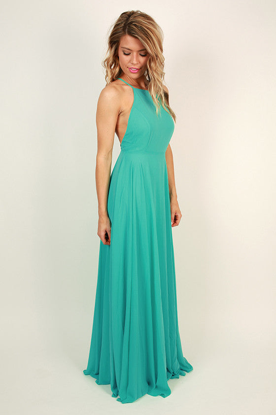 Fallin' in Love Maxi Dress in Ocean Wave