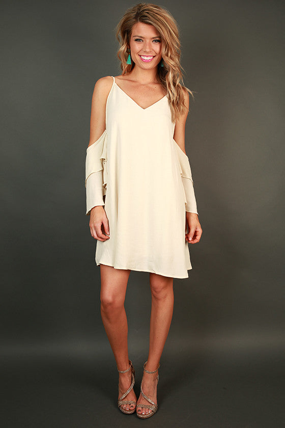 Live in the Moment Shift Dress in Cream