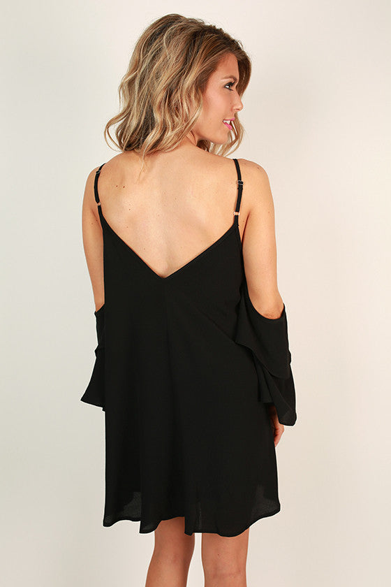 Live in the Moment Shift Dress in Black
