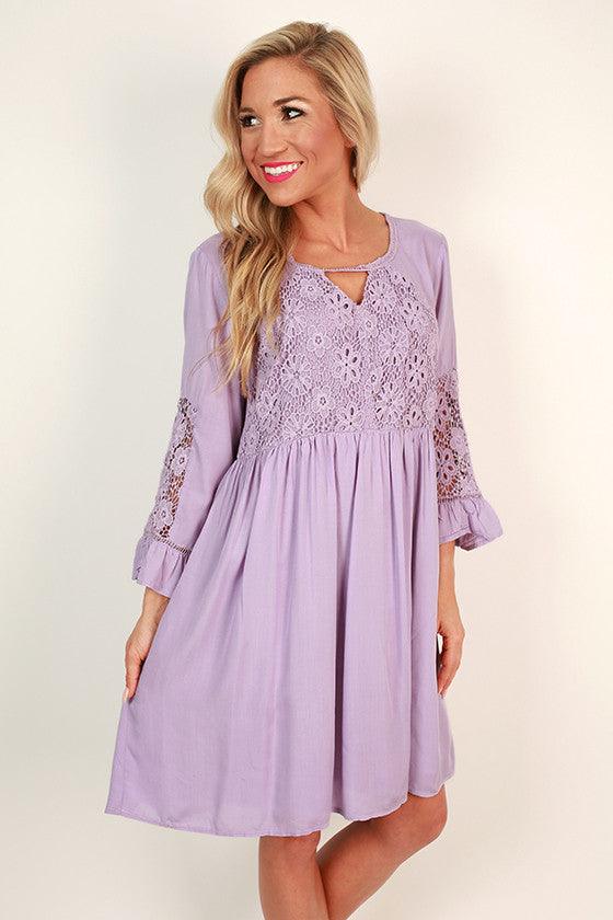 She's a Stunner Babydoll Dress in Lavender