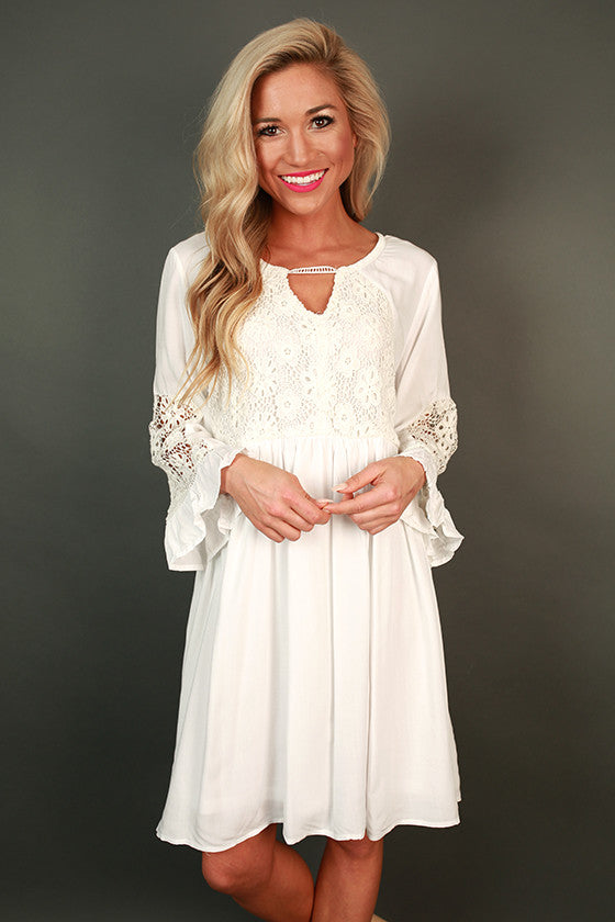 She's a Stunner Babydoll Dress in White