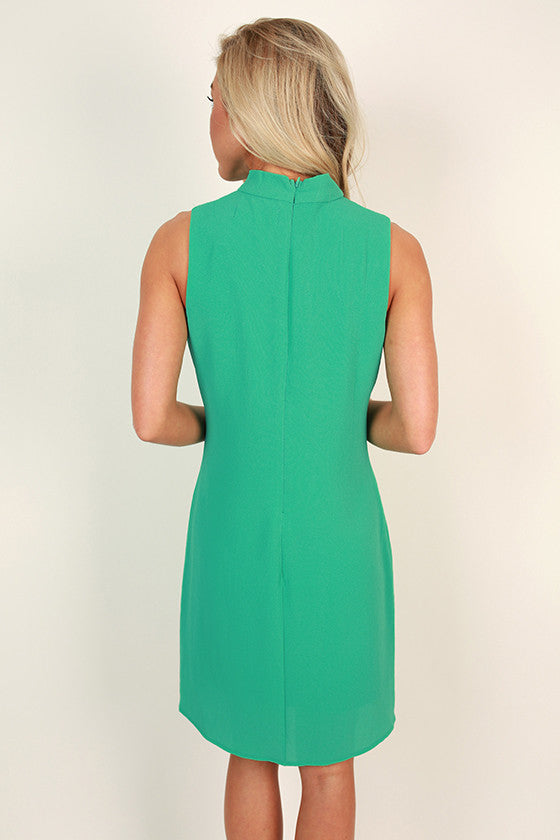 Secret Admirer Mini Dress in Jade