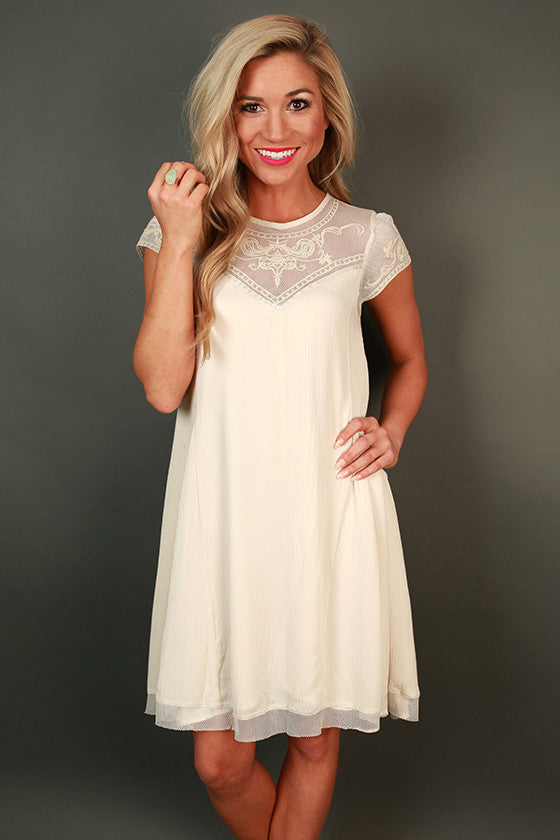 She's A Dream Lace Shift Dress