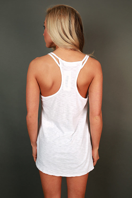 Down To Earth Shift Tank in White