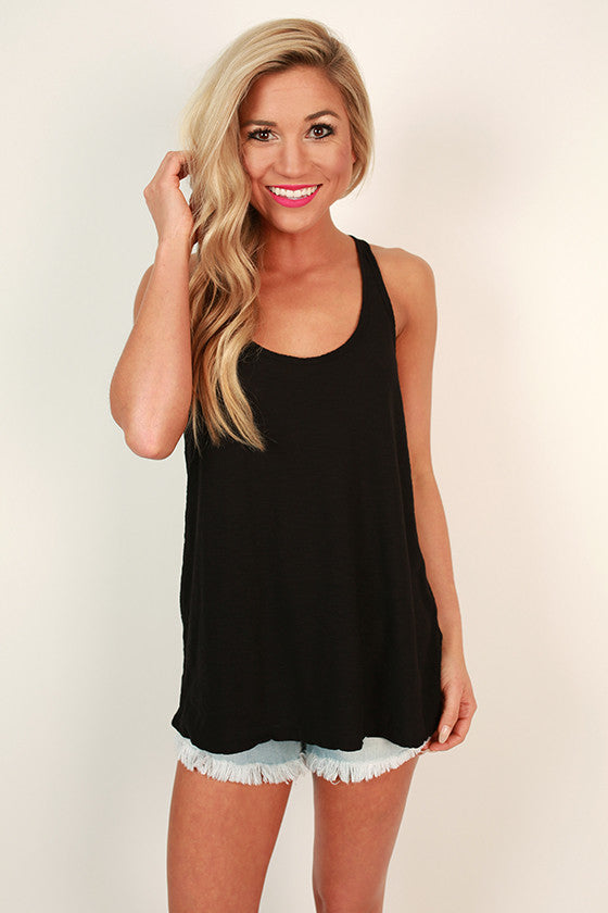 Down To Earth Shift Tank in Black