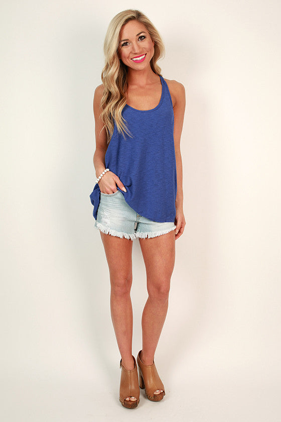 Down To Earth Shift Tank in Indigo