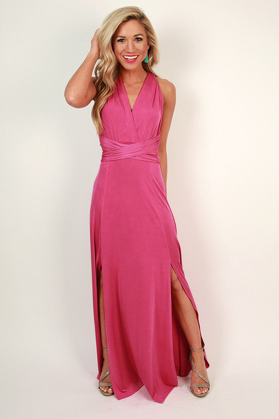 Sweet Serendipity Multi-Wear Maxi Dress in Pink
