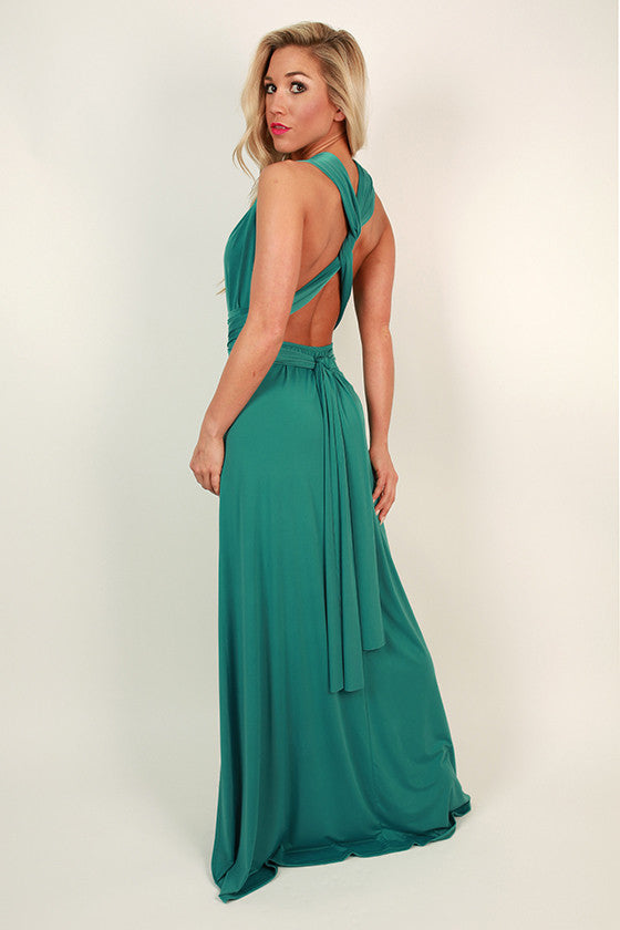 Sweet Serendipity Multi-Wear Maxi Dress in Jade