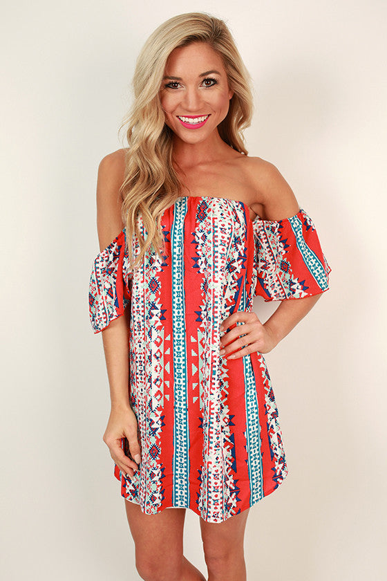 Margarita Party Off Shoulder Dress