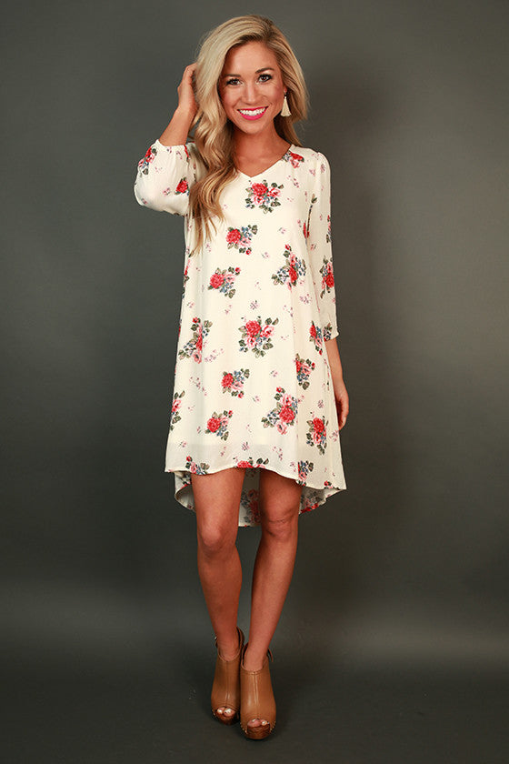 Champagne in the Garden Floral Dress