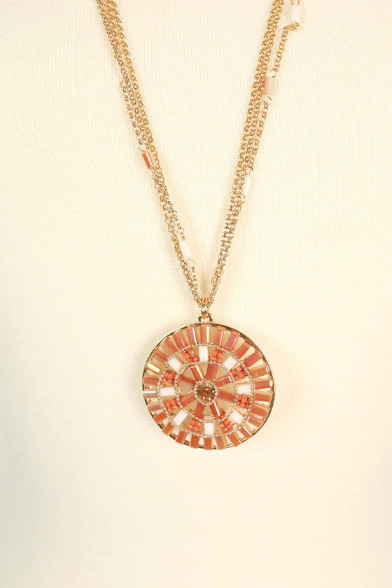 Burst Of Beauty Necklace in Peach Echo
