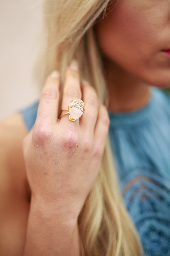 Rock It Out Quartz Ring
