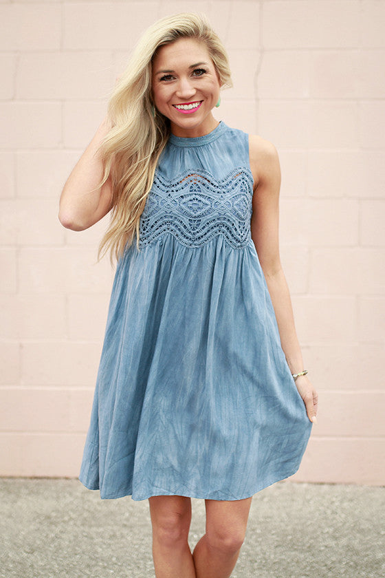 Set For Success Crochet Shift Dress