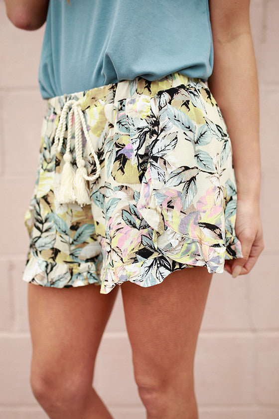 Tropic Adventure Print Shorts