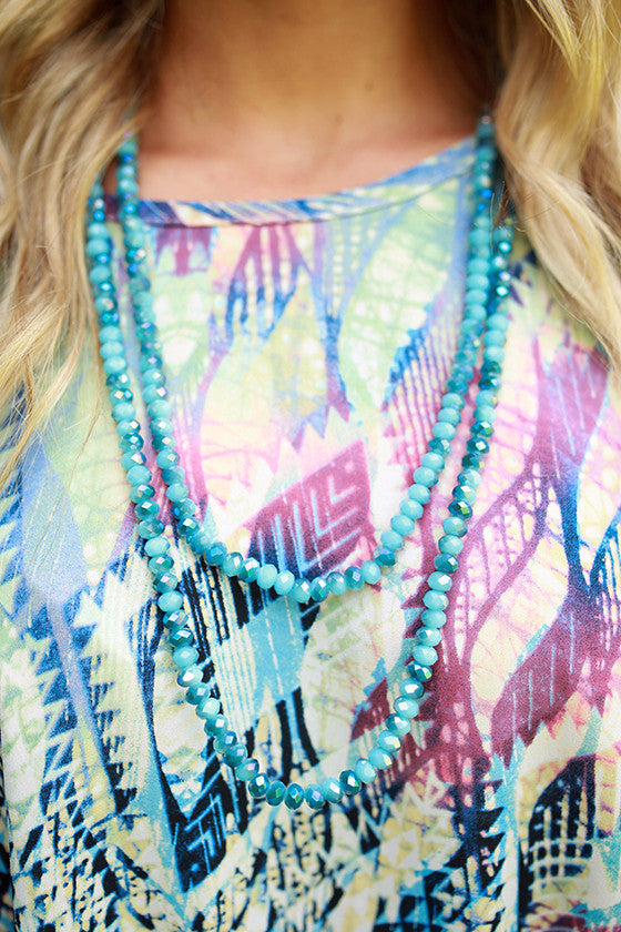 Lighten Up Necklace in Snorkel Blue