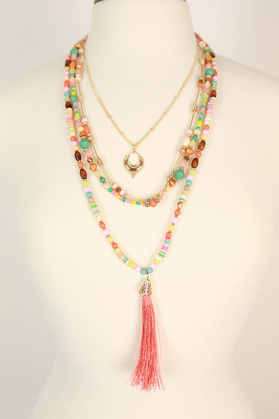 Trip To The Hamptons Tassel Necklaces in Calypso