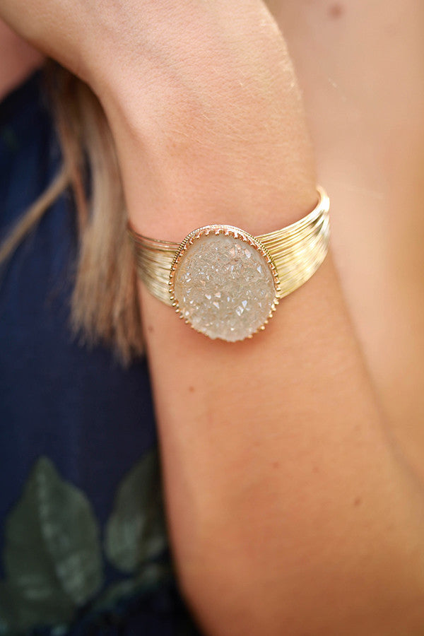 Divine Days Druzy Bracelet in Clear