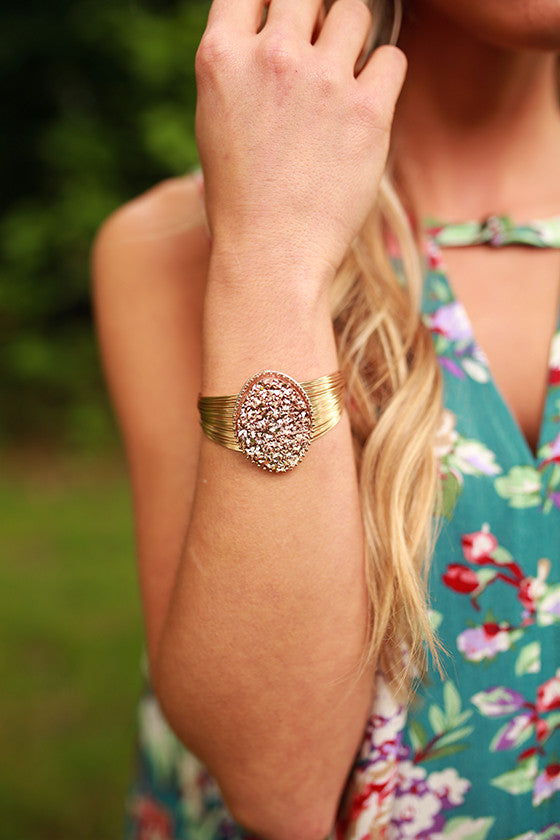 Divine Days Druzy Bracelet in Rose Gold
