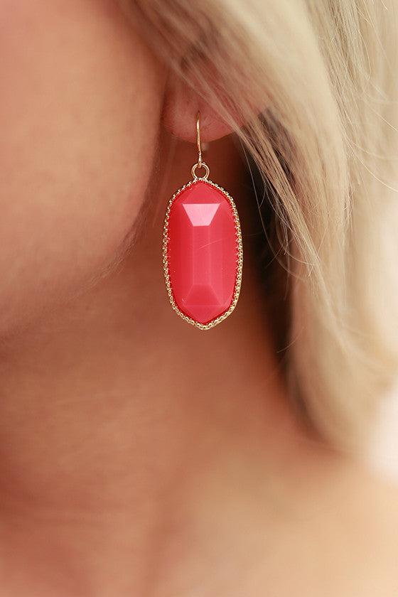 Stay Swanky Stone Earrings in Fiesta