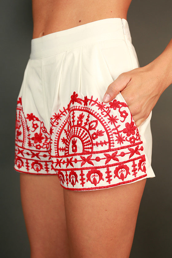 Weekend Adventure Shorts in Red