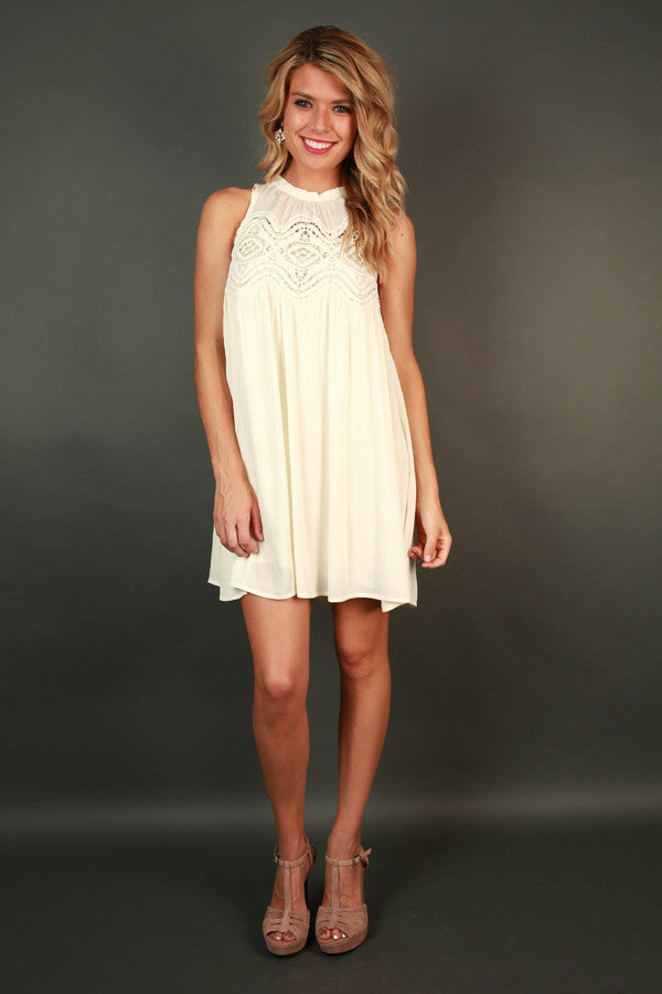 What A Doll Crochet Shift Dress