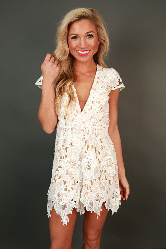Flirty & Fun Crochet Romper