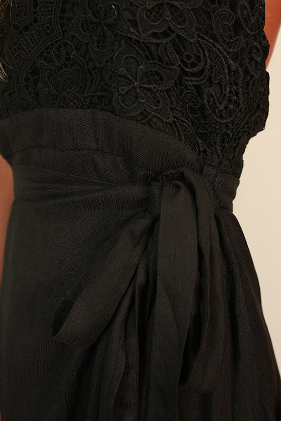 Forever Graceful Maxi Dress in Black