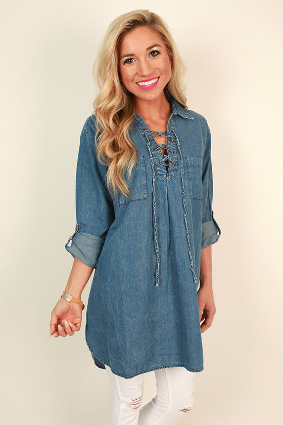 Good Spirits Chambray Tunic