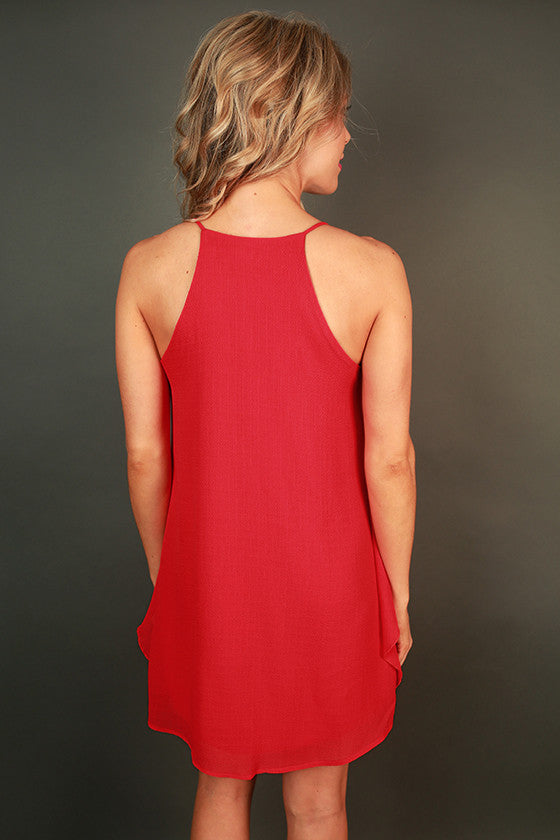 Southern Sangria Shift Dress in Red