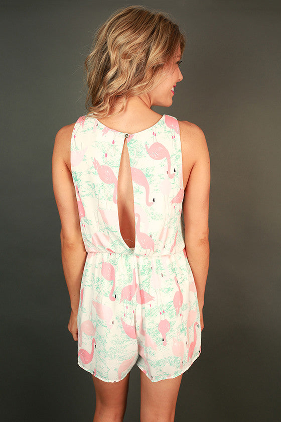 Flirty Flamingo Romper