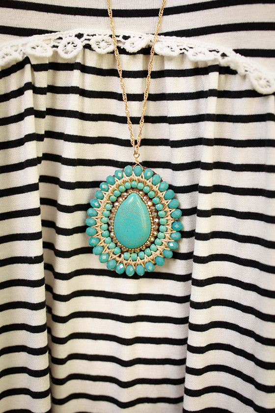 The Beauty Stone Necklace in Turquoise