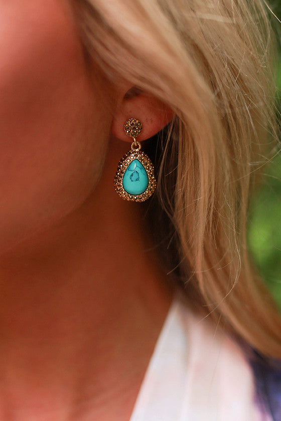 Totally Turks Crystal Earrings