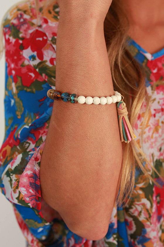Adore You Tassel Bracelet in Ivory