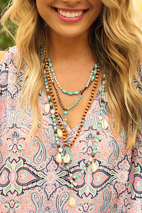 Beach Babe Shell & Tassel Necklace