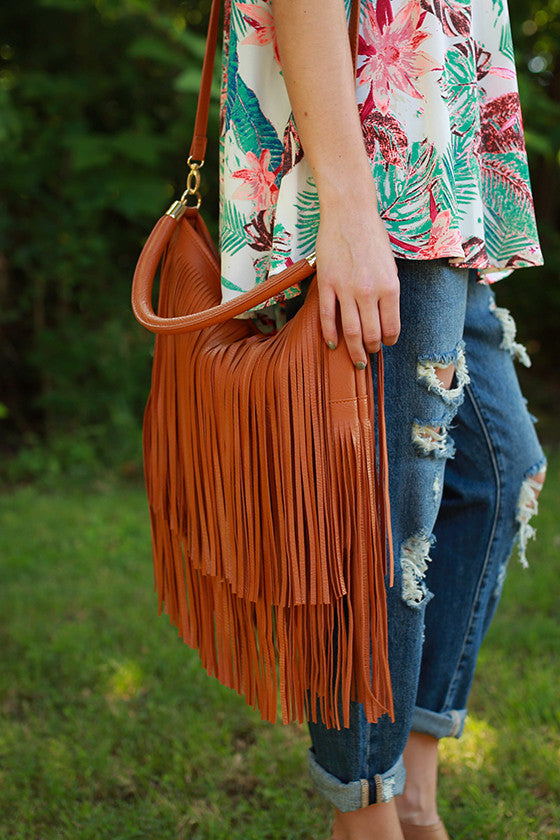Upper East Side Fringe Tote in Maple