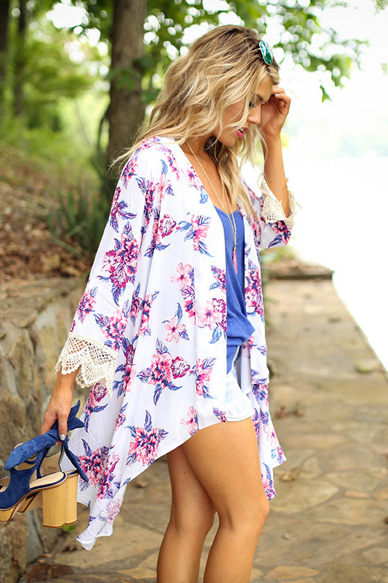 The Eve Overlay in White Cabo San Floral