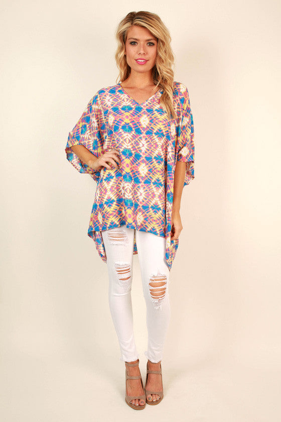 The Harper Tunic in Lemon Drop Tie Dye