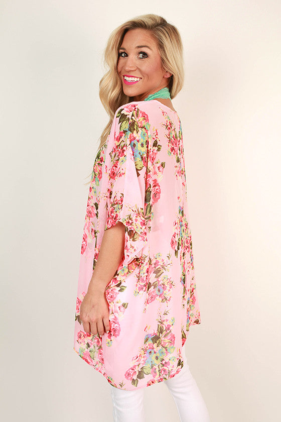 The Harper Chiffon Tunic in Cabana Floral