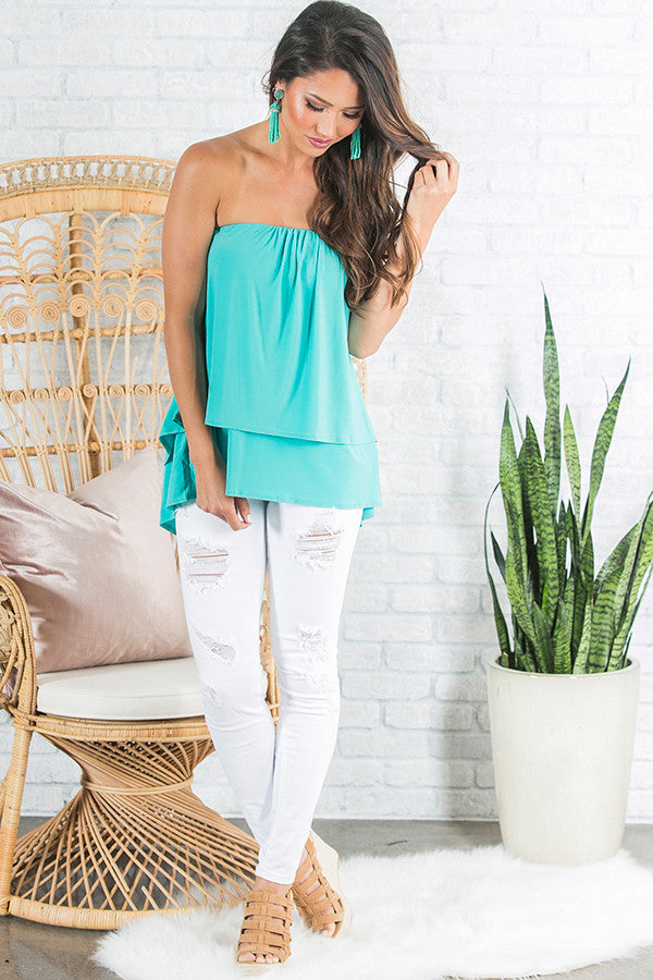 The Lou Lou Layered Top in Laguna