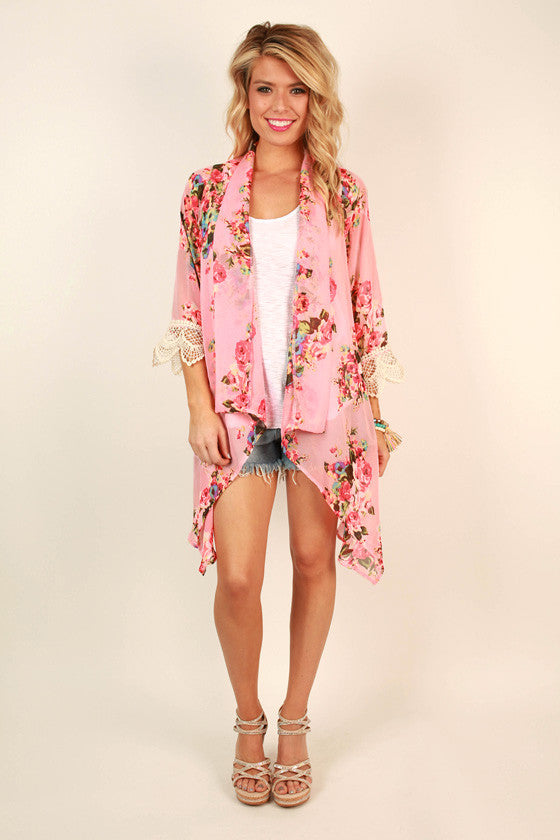 The Eve Chiffon Overlay in Cabana Floral