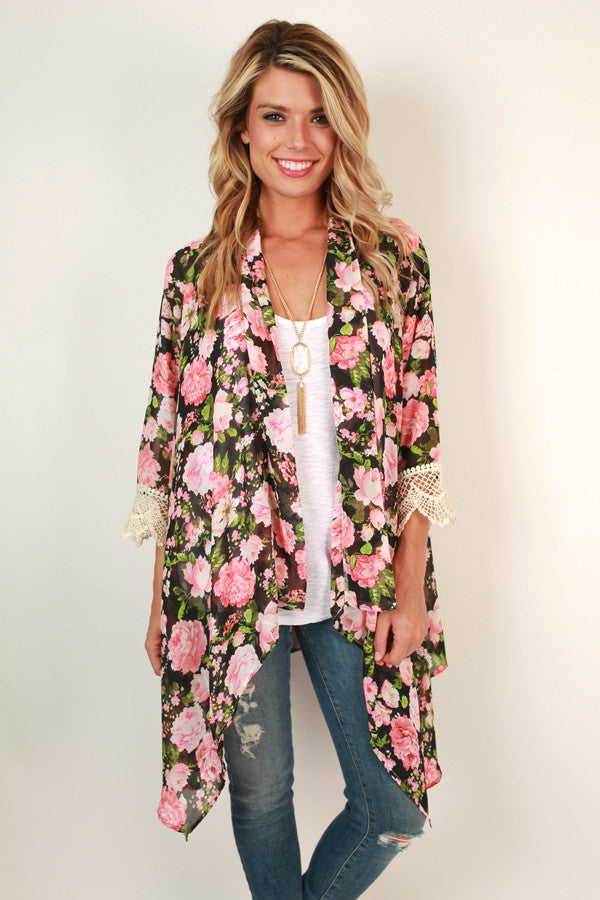 The Eve Chiffon Overlay in Rosie Belle Floral