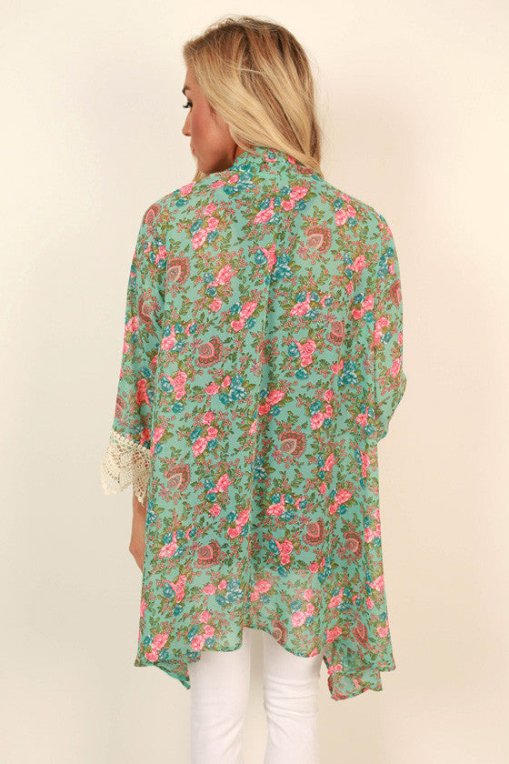 The Eve Chiffon Overlay in Antoinette Floral