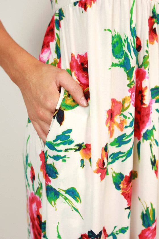 The Scarlett Empire Maxi in Savannah Brunch Floral
