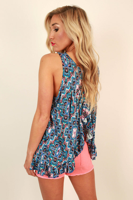 The Brighton Babydoll Tank in Monaco Mosaic