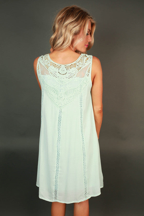 Sunday Charm Crochet Shift Dress