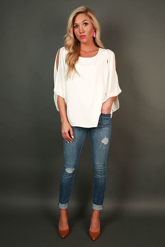 Make My Heart Beat Cold Shoulder Top