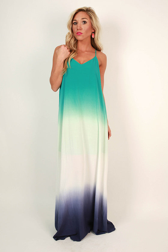 Forever Beautiful Ombre Maxi in Jade