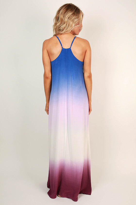 Forever Beautiful Ombre Maxi in Royal Blue